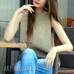 hand-made bluzki dwukolorowy top