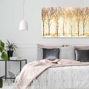 Obraz drzewo 47 - 120x70cm kolory jesieni złoto aleobrazy obraz