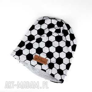 czapka unisex piłka nożna beanie ciepła szara - czapka, ciepła, beanie