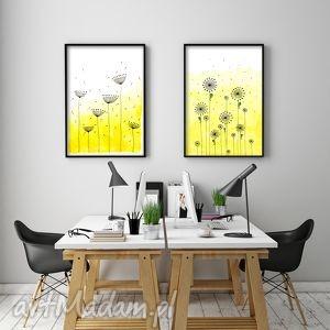 Zestaw 2 prac A3, plakat, grafika, łąka, kwiaty