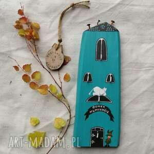 Domek muminków z włóczykijem i muminkiem - wieszak na klucze no