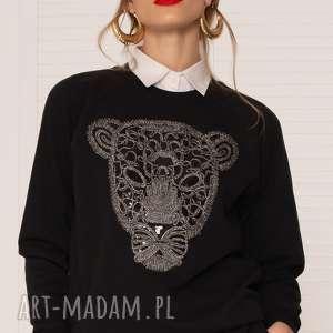 bluzy czarna bluza z tygrysem, bluza, tygrys, ciepła, czarna, uniwersalna, kołnierzyk