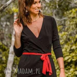 sukienki sukienka abito busta nero con una fascia, sukienka, mała czarna, wiosna