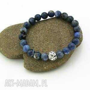 bransoletka sodalit, bransoletka, kulka, elastyczna, kamień, piękna