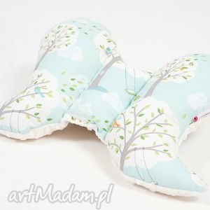 pokoik dziecka poduszka podróżna motylek - minky las ecru, motylek