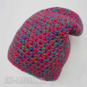 czapka hand made no 037 / dziecięca krasnal, ciepła, narciarska, prezent, kolorowa