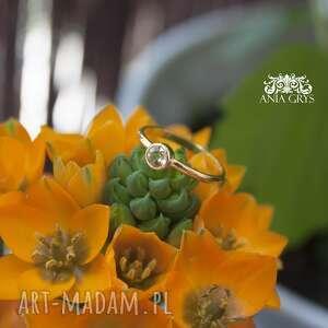 pierścionek słoneczny, cytryn, pierścionek, pozłacany, elegancki, klasyczny