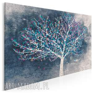 obraz na płótnie - drzewo liście 120x80 cm 30602, drzewo, liście, roślina