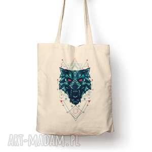święta, torba - magical wolf, eko, torba, prezent, bawełna, zakupy