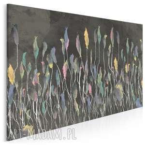obraz na płótnie - łąka czarny kolorowy 120x80 cm 53103, łąka, tęcza, wiosna