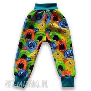 potworki kolorowe całoroczne spodnie z dresówki, dla dziecka rozmiary
