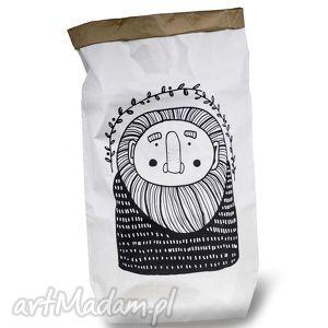 papierowy wÓr - leŚny dziad - malinowe cacko - papierowa, torba, przechowanie, eko