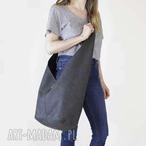 hairoo long boogi bag - torba w stylu boho do noszenia przez ramię, grafitowa