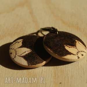 aksinicoffeepainting mini wiśnia - drewniane wypalane, okrągłe