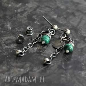 kolczyki z malachitem, malachit, biżuteria malachitem