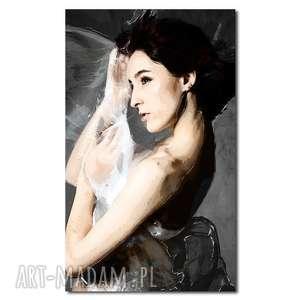 obraz xxl kobieta 26 -70x120cm design na płótnie autorski wzór, kobieta, śliczny