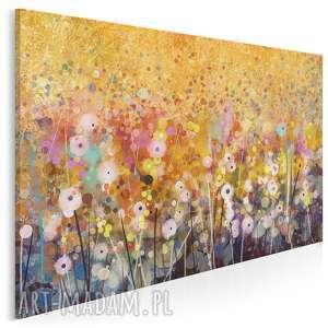 Obraz na płótnie - OGRÓD KWIATY ABSTRAKCJA 120x80 cm (62101), ogród, kwiaty