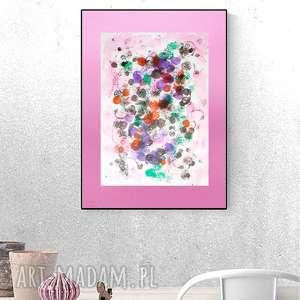 nowoczesna dekoracja na ścianę, abstrakcja do pokoju, grafika loftu