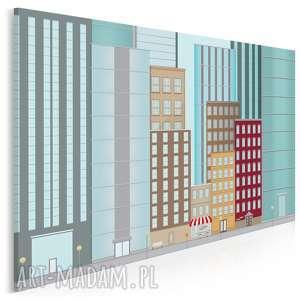 obraz na płótnie - budynki wieżowce 120x80 cm 25501, budynki