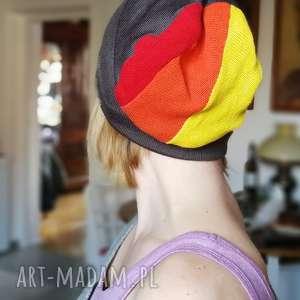 męska damska paski bawełna czapka unisex rower - wełna, sport, dzianina