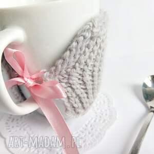 Szary otulacz LOVE - Hand-Made