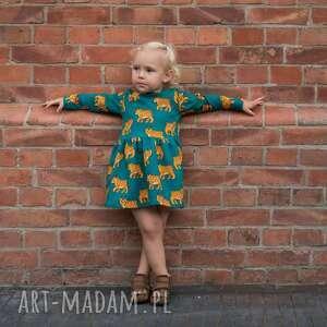 sukienka dresowa rysie, dresowa, dla dziecka
