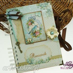 scrapbooking notesy pamiętnik- w paryskim ogrodzie, pamiętnik, sekretnik, notes