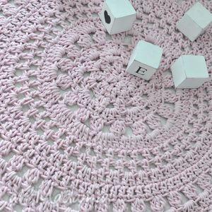 dywan serwetkowy różowy, dom,