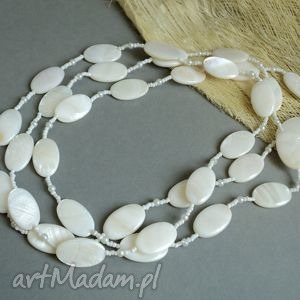 blanc desir - korale, naszyjnik, perły