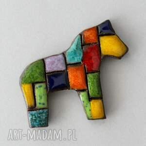 broszki i-pataj - broszka ceramiczna, kolor, skandynawski, design, łowicki