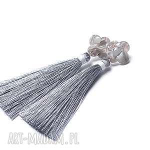 boho marble /grey/ - kolczyki