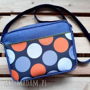 na ramię torebka mały box grochy, wodoodporna, mała, wiosenna, kobieca