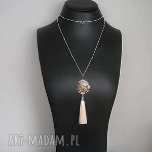 Alloys Collection -rose gold filigree, stal, szlachetna, pozłacana, hematyty, chwost