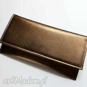 Kopertówka - miedziana torebki niezwykle elegancka, kopertówka