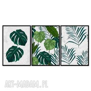 obrazy w ramie liść 5r - 84x40cm na płótnie kwiaty nowoczesne, nowoczesne