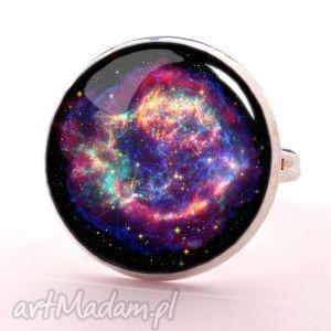 Kosmos - Pierścionek regulowany - ,pierścionek,regulowany,kosmos,galaxy,nebula,prezent,