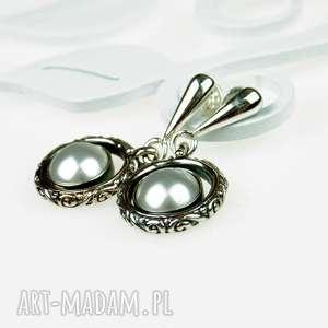 Prezent Ozdobne srebrne kolczyki z perłami a555, kolczyki-z-perłami, kolczyki-srebrne