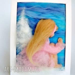 hand-made pokoik dziecka bujający w obłokach anioł stróż