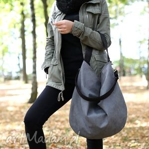 Hobo XL Black Ash , torba, torebka, worek, workowata, szara, czarna