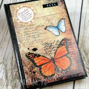 kalendarz książkowy 2020-motyle, kalendarz, terminarz, 2020, notes, motyle