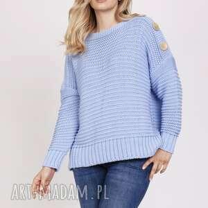 swetry bawełniany sweter - swe223 błękit mkm, do szkoły, pracy