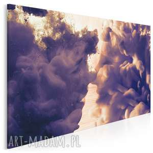 obraz na płótnie - dym pocałunek twarze 120x80 cm 28101, dym, chmury