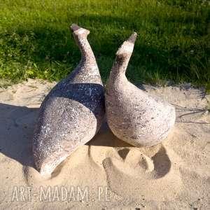 Prezent ceramiczne perlice, ptaki, parka-ptaków, ceramika-ogród