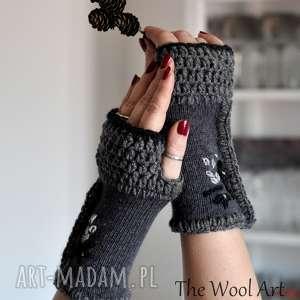 rękawiczki mitenki - rękawiczki, mitenki, wełniane, wiosenne, dodatki