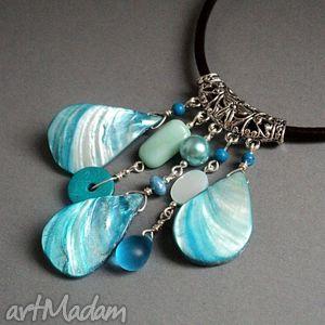 niebieski motyl - naszyjnik, wisior, wisiorek