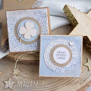 kartki pudełeczko z kartką pełne uczuć i słów, kartka urodzinowa, na urodziny