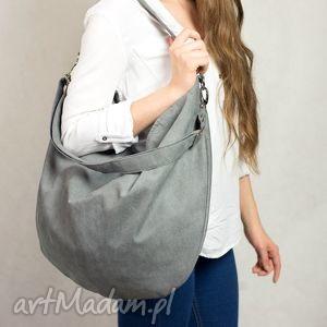 torebki hobo true colors popiel, torba, zamszowa, szara, torebka