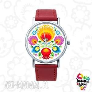 Zegarek z grafiką łowicz zegarki ludowelove folk, folklor