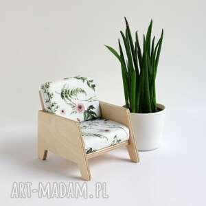 fotel dla lalek wykonany ze sklejki, lalek, drewniany