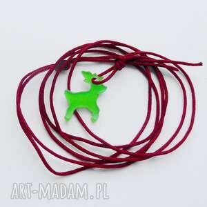 wisiorki renifer wisiorek mały, tworzywo, sznurek, renifer